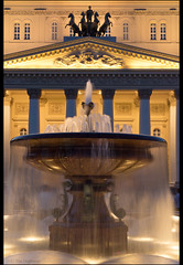 Moscow. Fountain Theatrical and the Bolshoi Theatre. (Yuri Degtyarev) Tags: fountain lens theatre moscow sony tripod yuri kit 1855 alpha sel  theatrical bolshoi oss slik  nex   degtyarev  nex5 sel1855