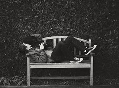 Bebop (Brandon Christopher Warren) Tags: old blackandwhite bw film beautiful bench photography vines ivy converse tones 70200mm revived danielwarren eos5dmarkii brandonchristopherwarren