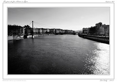 Lyon cité des Gaules (BerColly) Tags: city france water google eau flickr lyon cité ville fleuve rhonealpes blackwhitephotos bercolly