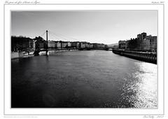 Lyon cit des Gaules (BerColly) Tags: city france water google eau flickr lyon cit ville fleuve rhonealpes blackwhitephotos bercolly