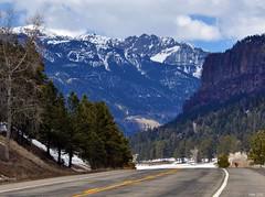 On The Road to Wolf Creek Pass (pam's pics-) Tags: snow mountains nature highway colorado sanluisvalley co rockymountains picnik slv mountainpass sangredechristo wolfcreekpass highway160 southerncolorado pamspics pagosaspringscolorado nikond5000