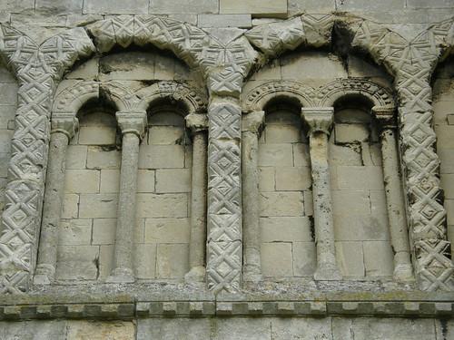 Norman Blind Arcade At Malmesbury Abbey