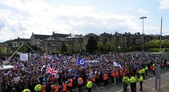 RFU 45 (Redhand1873) Tags: blue red white scotland glasgow protest queenspark trust rangers hampden supporters sanctions rfu andblackfootball