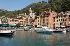 (Erik.M) Tags: blue sea italy green water port canon square boats harbour liguria 1855mm portofino 60d