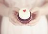 Red Velvet Cupcake (Amanda Mabel) Tags: pink portrait food love cake hands focus soft dress heart sister fingers cream skirt cupcake faceless delicate wrapper frosting amandamabel