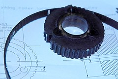 Old pulley (idyllicpress) Tags: ink belt roller pulley xl distribution timing vandercook sp15