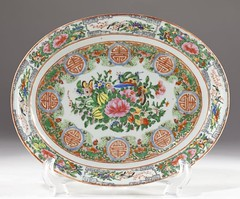 20. Chinese Porcelain Rose Medallion Dish