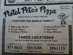 Pistol Pete's Pizza 1990 (frankasu03) Tags: las vegas kids arcade restaurants retro pizza 80s pistol 90s hangout petes
