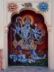 Pushkar - Kali painting (sharko333) Tags: voyage travel india painting asia asien kali asie pushkar indien rajasthan reise godess hinduisme earthasia