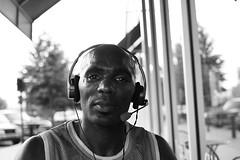 1.100 (midnightrook) Tags: portrait blackandwhite bw white man black guy 35mm cool strangers stranger f2 35 t3i ef35f2 100strangers midnightrook