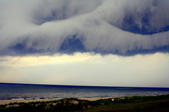 Storm rolling in (Hilarywho) Tags: cloud michigan lakemichigan stormcloud rollingin overlakemichigan