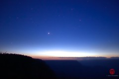 Grand Canyon & Venus EXPLORE Jul 4 2012 (Mark Kaletka) Tags: sunset arizona sun nature night canon nationalpark venus grandcanyon paintshoppro corel grandcanyonnationalpark 550d t2i
