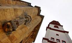 St. Jacobi und altes Rathaus (C MB 166) Tags: church architecture germany deutschland cityhall saxony sachsen architektur rathaus chemnitz jacobikirche
