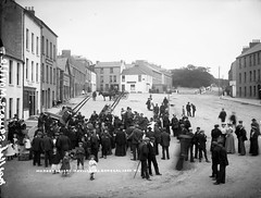Market Square, Moville, Co. Donegal (National Library of Ireland on The Commons) Tags: ireland children market barefoot donegal liptonstea ulster marketsquare butchers glassnegative 1890s moville mercers duffys robertfrench williamlawrence nationallibraryofireland carcases lawrencecollection movillehotel