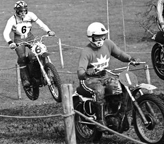Newbury 1971 - Bryan Wade and John Banks (ericmiles47) Tags: wade banks newbury bsa husqvarna classicscramble