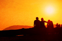 The sun will rise tomorrow (. Jianwei .) Tags: light sunset sun mountain texture yellow vancouver landscape three mood dusk candid atmosphere portmoody a55 oldorchardpark kemily