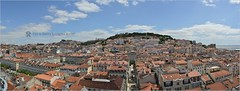 Panoramic view of Lisabona (Stefan Cioata) Tags: ocean city summer sky panorama portugal water beautiful photography photo nikon europa europe view image sale lisboa hill great stock aerial best roofs explore getty resolution destination top10 available d800 outstanding lisabon portugalia lisabona touristical