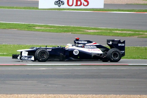 Pastor Maldonado in his Williams at Silverstone