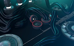 Cables (davdalx) Tags: cinema 3d render cinema4d machinery cables wires modelling electrics nurbs