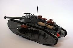 MK XXII Tank rear (Babalas Shipyards) Tags: track tank lego military land vehicle armour warfare