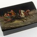 210. Hand-Painted Russian Lacquered Dresser Box