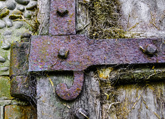 Hinge at the Old Hall (David M:) Tags: hinge wood uk trip travel light shadow summer vacation england sunlight color colour brick green art english beautiful beauty sunshine yellow architecture composition neglect vintage landscape nikon gate europe purple image britain north norfolk picture scene structure architectural pebble photograph shade british form shape tone available tonal lightroom compose d5000 wiverton