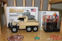 The big things from brick fair (cooltrex) Tags: truck gun tank lego tan stuart loot brickarms brickforge brickfair brickmania