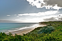Port Willunga 4 (Helen Vercoe) Tags: winter sea sky sun beach nature water sand scenery rocks surf waves surfers magpie southaustralia southport nikond90 portwilling