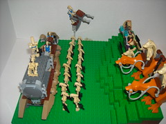 Battle Of The Grassy Plains (martinbrick12) Tags: terrain trooper brick texture stars army star fight war sad lego bricks battle troopers clones jar conflict wars plains clone naboo droid skirmish sadly binks grassy droids moc gungan martinbrick12
