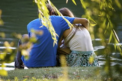 Cuddle (Sabine Smith (itsthebean)) Tags: toronto love nature outdoors pond couple highpark lovers cuddle romantic grenadier