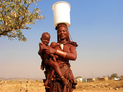 Himba collecting water (Namibia Red Cross Society) Tags: africa red water humanity safe waterpump namibia humanitarian redcross sanitation himba hygeine safewater