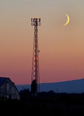 Crescent Moon (gordeau) Tags: sunset moon tower crescent gordon ashby unanimous challengeyouwinner flickrchallengegroup flickrchallengewinner thechallengefactory cyunanimous thepinnaclehof gordeau tphofweek174
