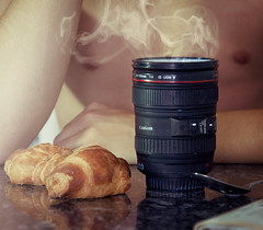 Good morning photographers! (Rubn Chase) Tags: morning food art cup breakfast lens photography milk nikon good photographers spoon chase conceptual taza rubn croissants objetivo objective d90 carb freeflyer09