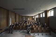 In a class of ones own  Explore #86 (Subversive Photography) Tags: abandoned self perception belgium class explore urbanexploration conceptual derelict hdr arrogance lecturehall urbex danielbarter