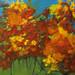 """""""Autumn,"""" acrylic. Artist Ursula Trudeau."""