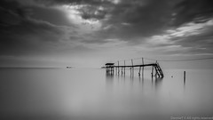 Pantai Jeram Selangor [Explored 3rd Nov 2012] (MOG'S) Tags: longexposure blackandwhite bw seascape beach landscape long slow malaysia slowshutter shutter klang pantai jeram kualaselangor selangor landscaoe leefilter pantairemis bigstopper pantaijeram leebigstopper