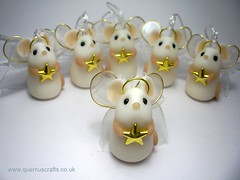 Tiny Angel Star Mice (Quernus Crafts) Tags: christmas cute angel mouse star wings decoration christmastree mice polymerclay goldstar quernuscrafts angelmice