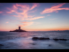 The tower and the elements (jeff_006) Tags: sunset sea sky seascape france tower rock landscape island long exposure mediterranean olympus panasonic foam f28 omd 1235 em5 flickrsfinestimages1 flickrsfinestimages2