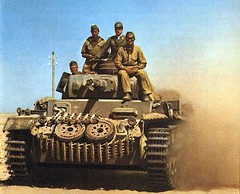 "PzKpfw III medium tank in North Africa • <a style=""font-size:0.8em;"" href=""http://www.flickr.com/photos/81723459@N04/13689466093/"" target=""_blank"">View on Flickr</a>"