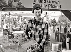 I Am the Eggman (sea turtle) Tags: blackandwhite bw island blackwhite washington farmersmarket farmers market egg eggs beatles farmer washingtonstate vashon vashonisland eggman vashonislandfarmersmarket