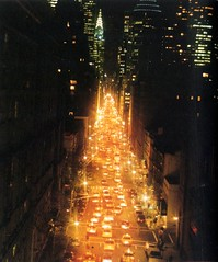 Down Lexington Avenue at Night (Hunter College Archives) Tags: night traffic yearbook 1998 hunter lexingtonave huntercollege wistarion thewistarion