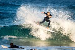 Tallow Beach Surfers (sbyrnedotcom) Tags: blue sea beach sports smash surf waves action australia surfing nsw surfers tamron byronbay tallowbeach