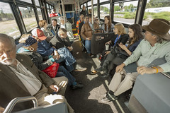 On board the Woodburn City Bus (OregonDOT) Tags: i5 legislature interstate5 woodburn legislators oregondot willamettevalleyi5corridortour