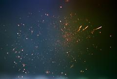 .galaxies. (Camila Guerreiro) Tags: leica brazil film night analog fireworks grain lightleak 400 paradies leicar4 camilaguerreiro