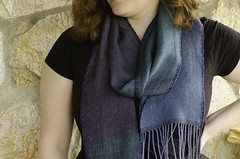 tencel twill scarves with handyed warp (kindred threads) Tags: scarves handwoven