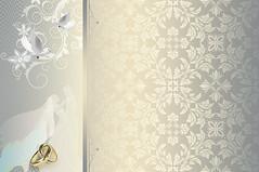Wedding invitation card design. (thuvienanh89) Tags: flowers wedding holiday abstract art floral silhouette illustration gold golden design shiny pattern artistic decorative background border decoration ornament invitation card swirl elegant ornate ornamental decor weddingday kazakhstan luxury template newlyweds weddingrings goldrings elegance weddinginvitation weds ourtext
