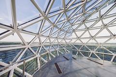 Lithuanian Museum of Ethnocosmology #149/365 (A. Aleksandravičius) Tags: panorama glass architecture modern nikon angle wide 365 nikkor muesum 2016 project365 365days 1424 d810 molėtai 149365 nikond810 1424mm lietuvosetnokosmologijosmuziejus 3652016