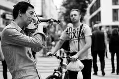 musician (Romina Frau) Tags: street people blackandwhite bw candid streetphotography cologne streetlife streetpics monochromeworld shootthestreet streettogs soulofstreet hurbanstreetphotos