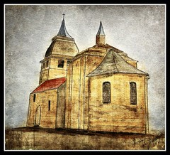 Une eglise (patrick.verstappen) Tags: art texture church watercolor painting paper photo yahoo spring google nikon flickr pat sigma april gouache eglise fabriano textured facebook picassa twitter gingelom ipernity d7100 pinterest ipiccy picmonkey