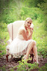 Champagne and Chiffon (Kelly McCarthy Photography) Tags: pink woman green beautiful beauty fashion forest pose outdoors necklace model chair woods dress bokeh makeup style jewelry blonde heels catchycolorsgreen bokehwhores